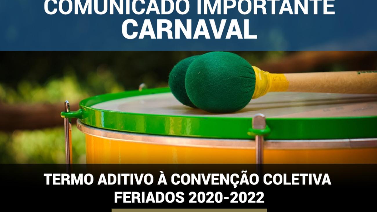 TERMO ADITIVO À CONVENÇÃO COLETIVO FERIADOS 2020-2022